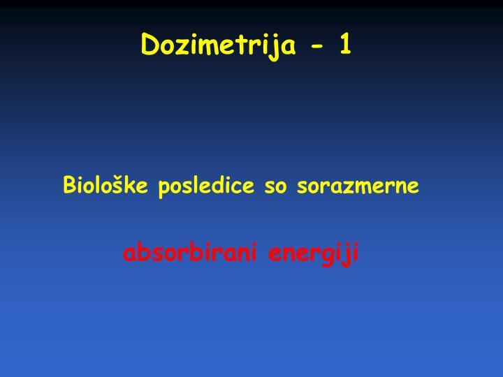 Dozimetrija - 1