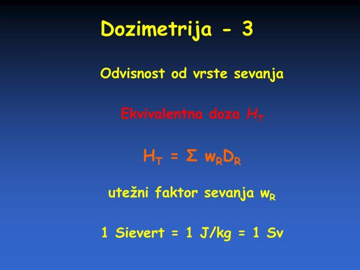 Dozimetrija - 3