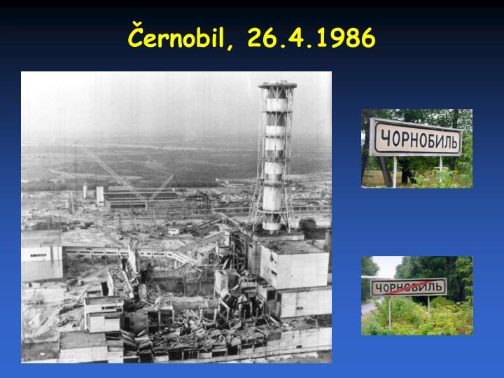 Černobil, 26.4.1986