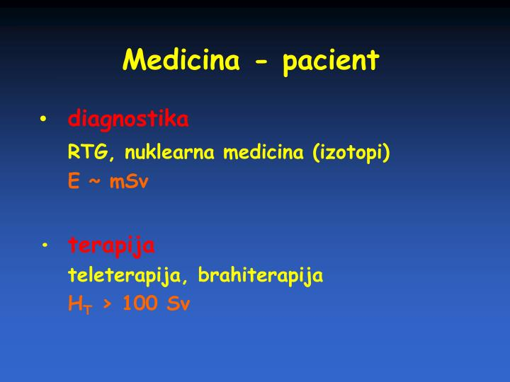 Medicina - pacient