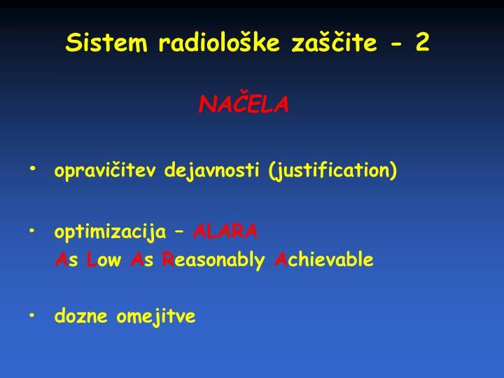 Sistem radiološke zaščite - 2