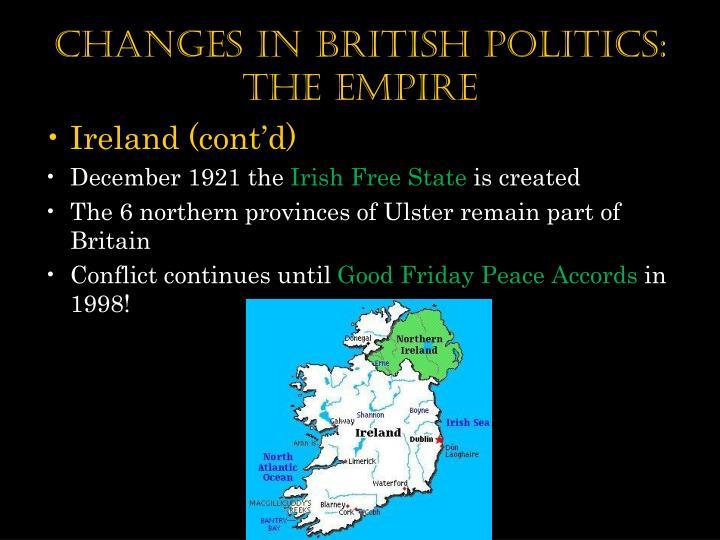 Changes in British Politics: the Empire