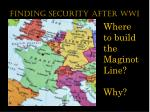 finding security after wwi3