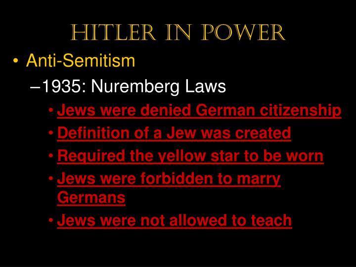 Hitler in power