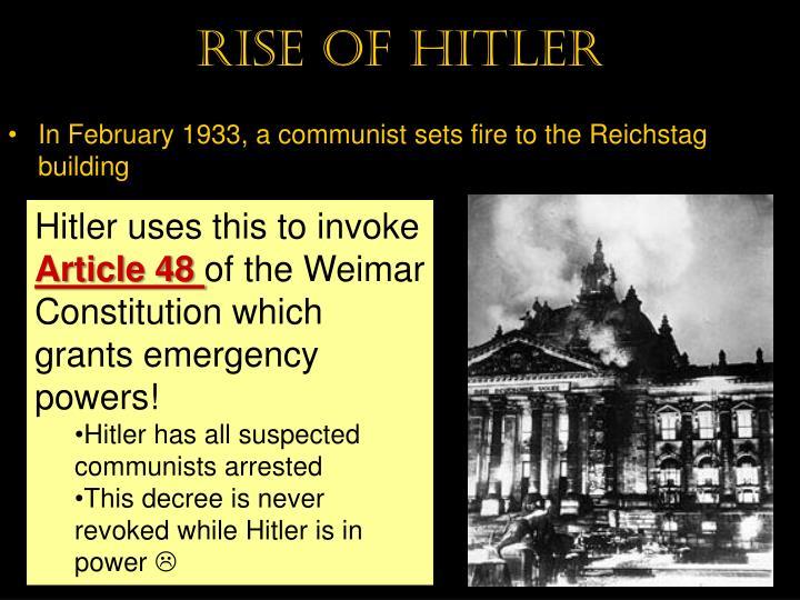 Rise of hitler
