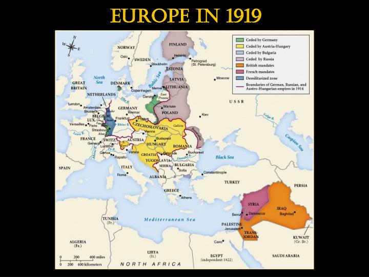 Europe in 1919