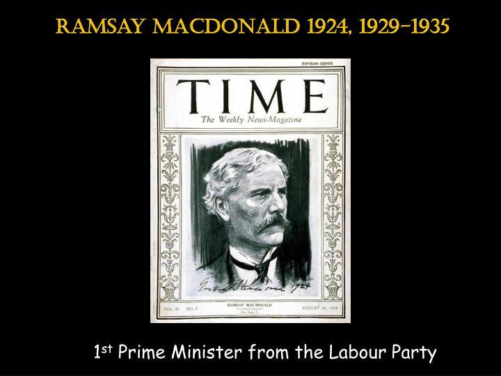 Ramsay macdonald 1924, 1929-1935
