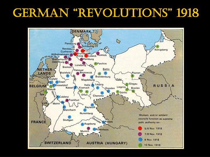 "German ""revolutions"" 1918"