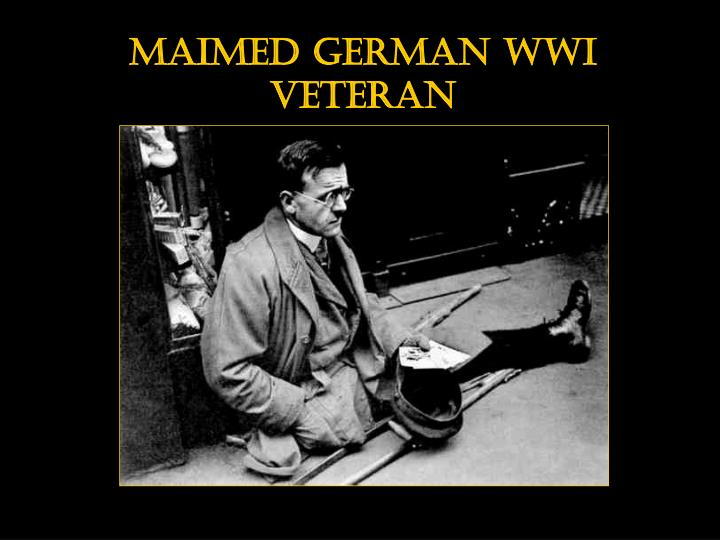 Maimed German WWI Veteran