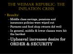 the weimar republic the inflation crisis