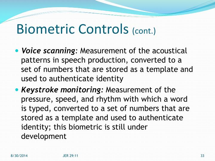 Biometric Controls