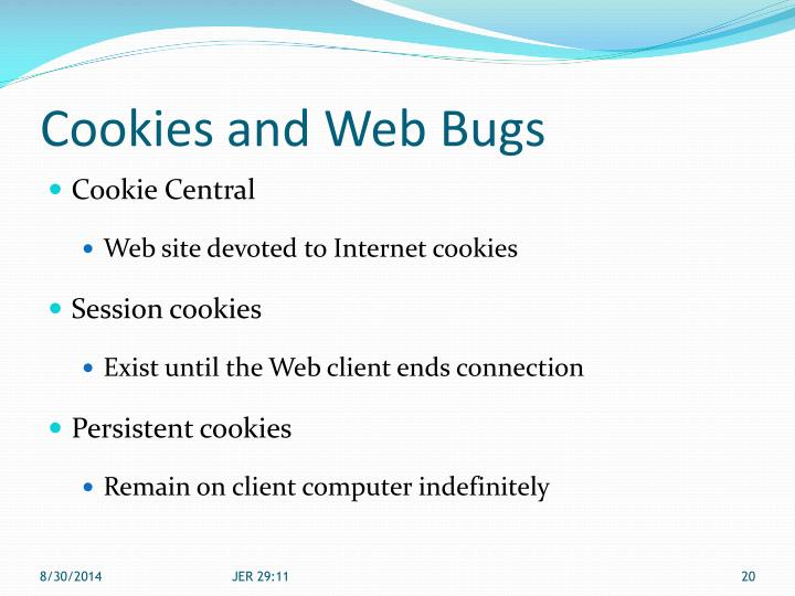 Cookies and Web Bugs