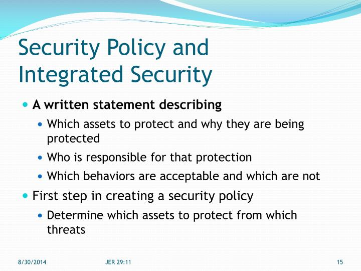 Security Policy and