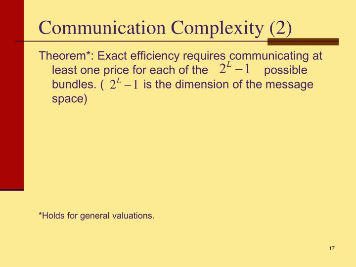 Communication Complexity (2)