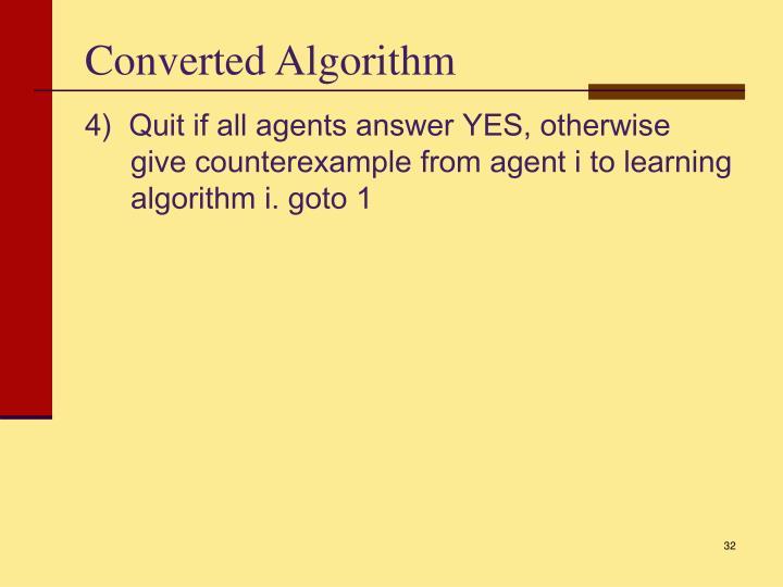 Converted Algorithm