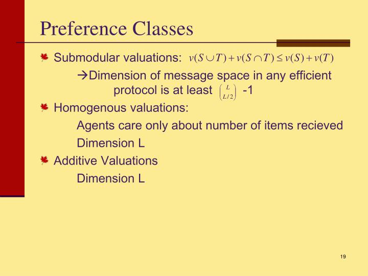 Preference Classes