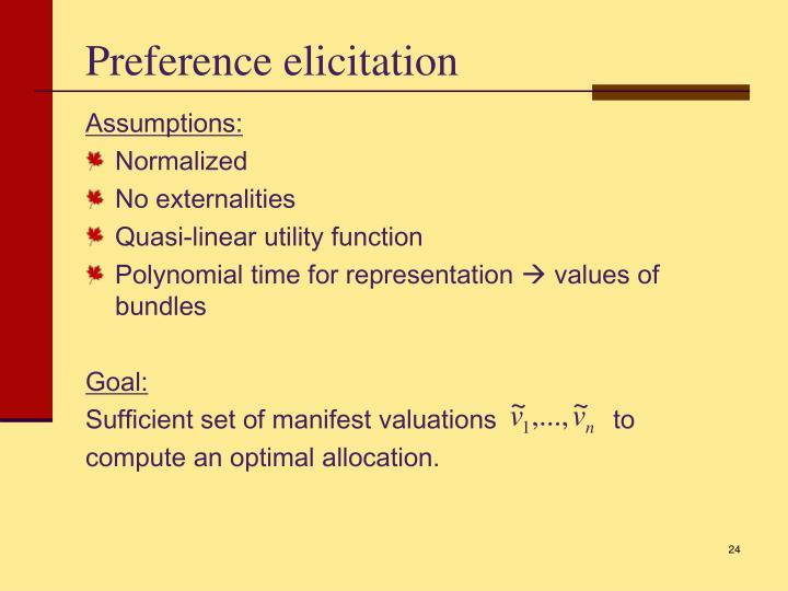 Preference elicitation