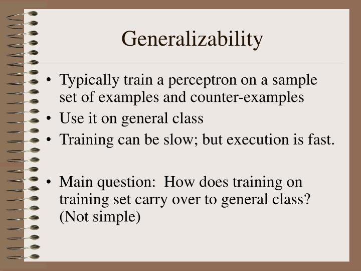 Generalizability