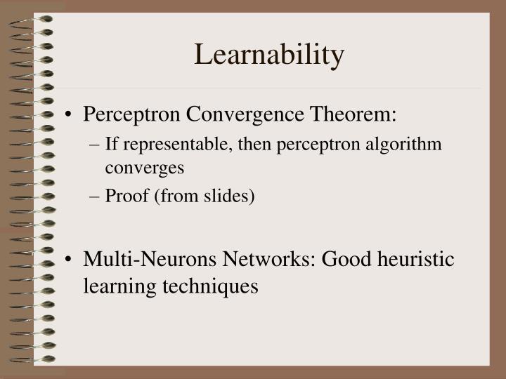 Learnability