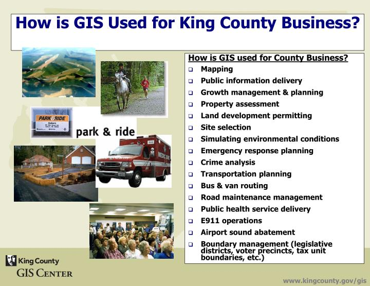 How is GIS used for County Business?