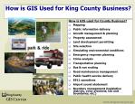 how is gis used for king county business