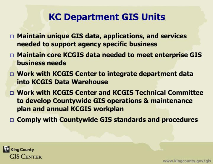 Maintain unique GIS data, applications, and services needed to support agency specific business
