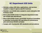 kc department gis units