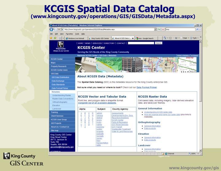 KCGIS Spatial Data Catalog