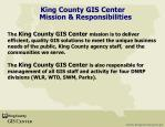 king county gis center mission responsibilities