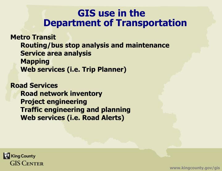 GIS use in the