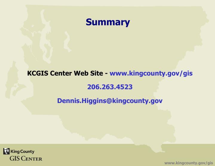KCGIS Center Web Site -