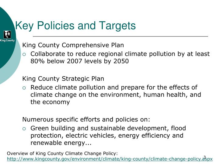 Key Policies and Targets