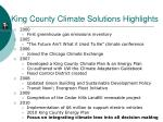 king county climate solutions highlights