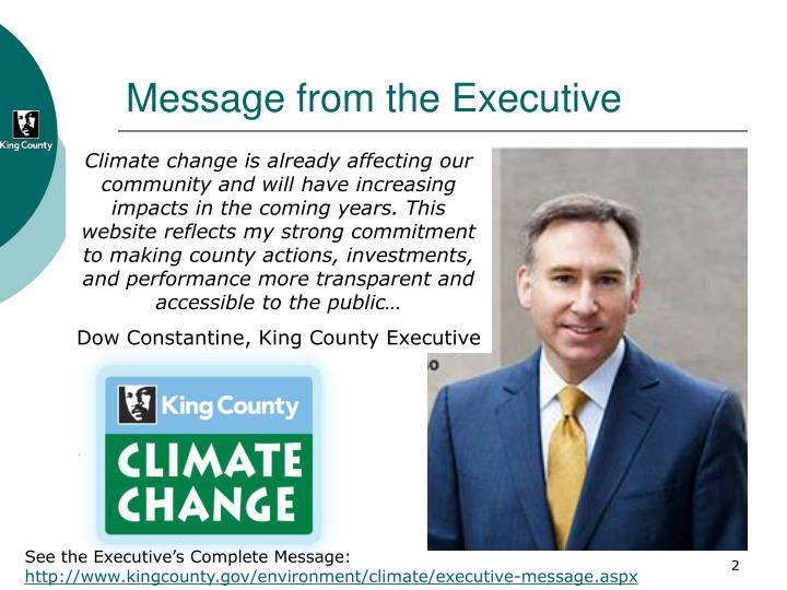 Message from the Executive