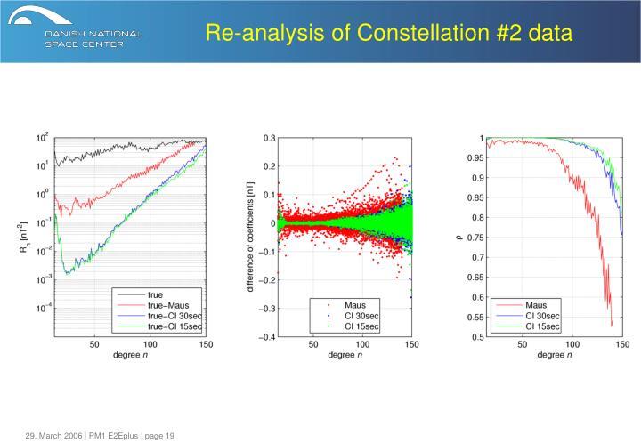 Re-analysis of Constellation #2 data
