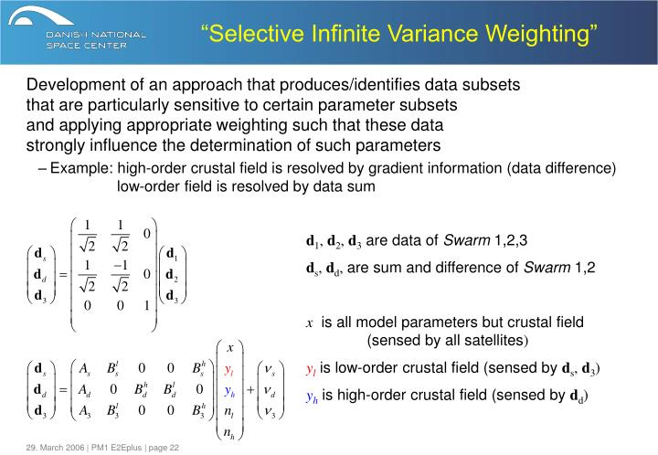 """Selective Infinite Variance Weighting"""