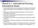 result 1 international nursing educational goals