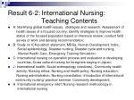 result 6 2 international nursing teaching contents
