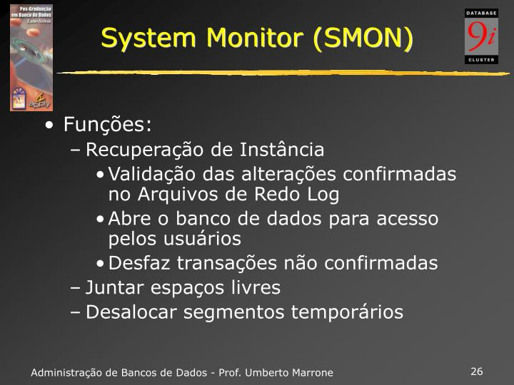 System Monitor (SMON)