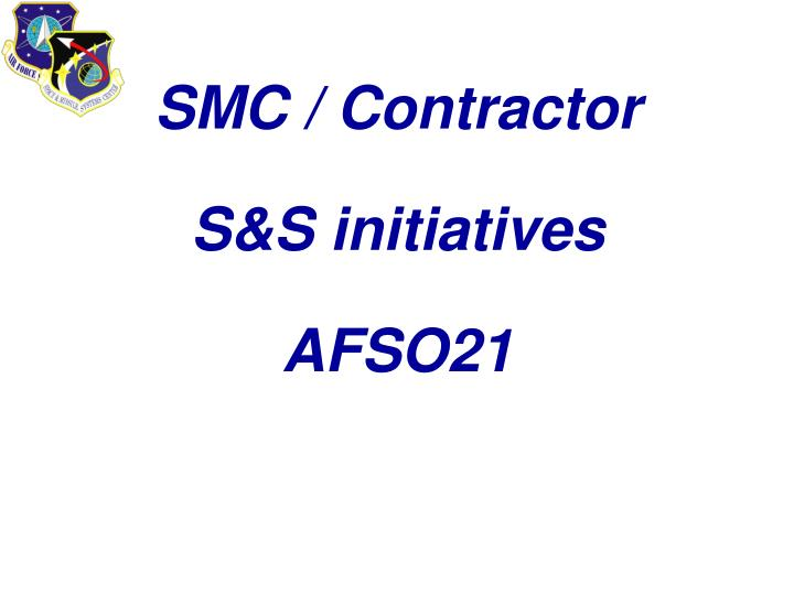 SMC / Contractor