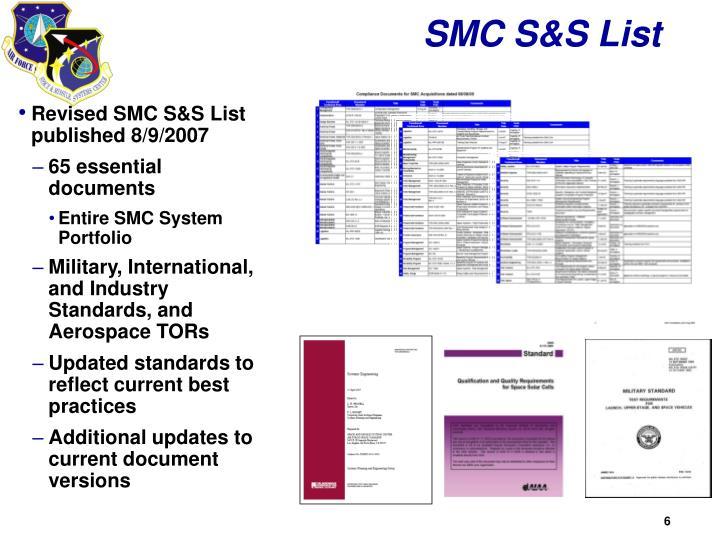 SMC S&S List