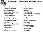 standards technical functional areas