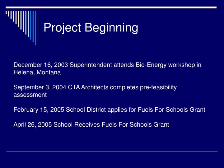 Project Beginning