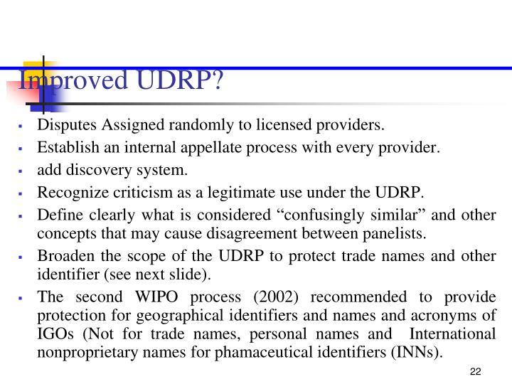 Improved UDRP?