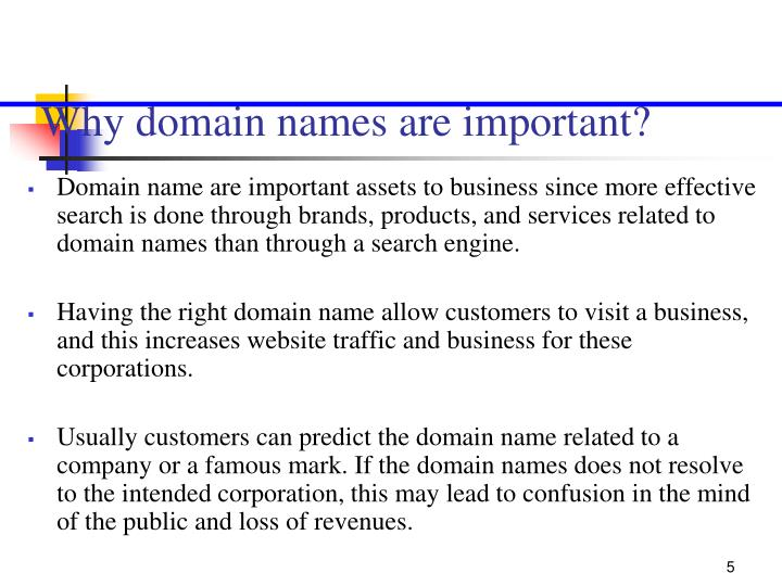 Why domain names are important?