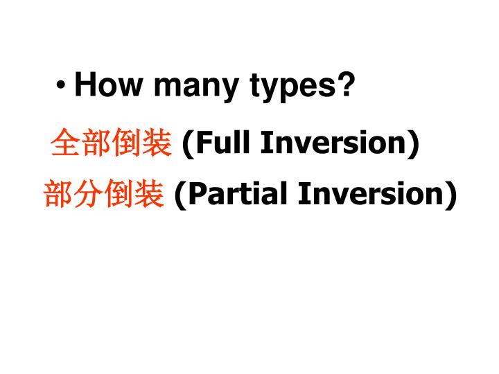 How many types?