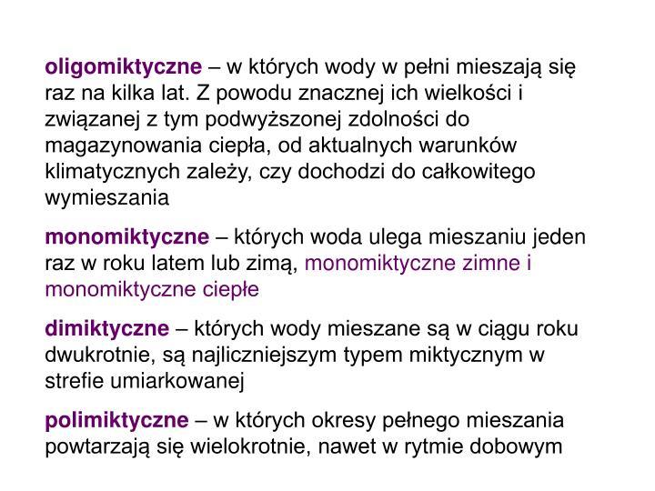 oligomiktyczne