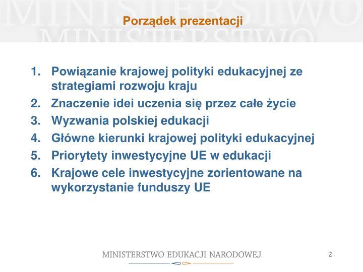 Porządek prezentacji