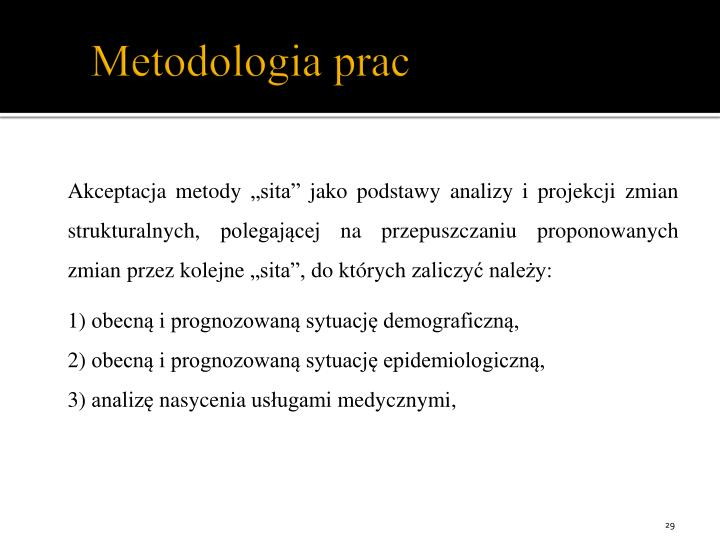 Metodologia prac