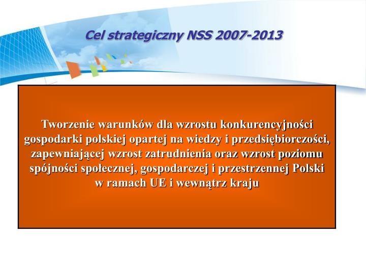Cel strategiczny NSS 2007-2013